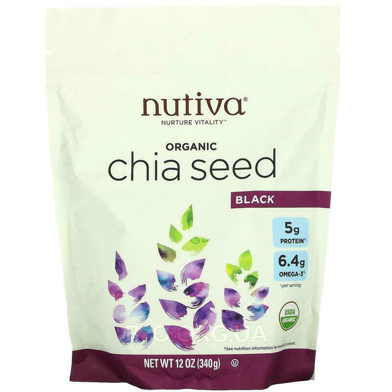 Нутива черные семена Чиа 340 г фото товара