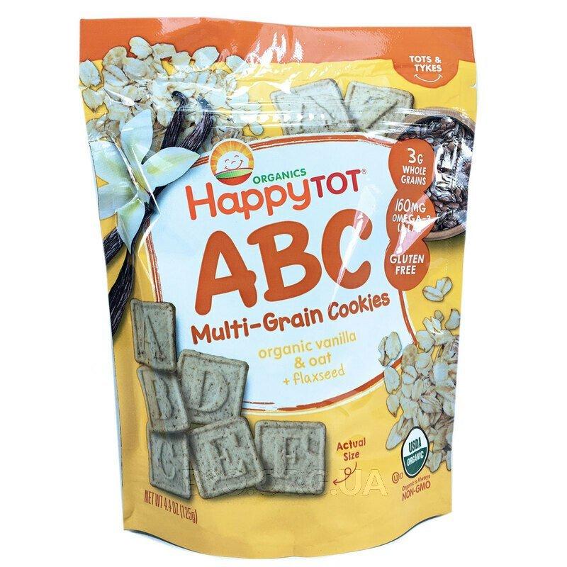 Happy Tot Super Smart Multi-Grain Alphabet Snacks Органический... фото товара