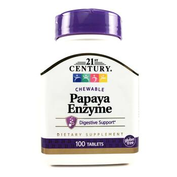 Купить 21st Century Papaya Enzyme 100 Chewable Tablets