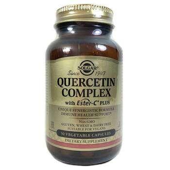 Купить Solgar Quercetin Complex with Ester C Plus 50 Vegetable Capsules