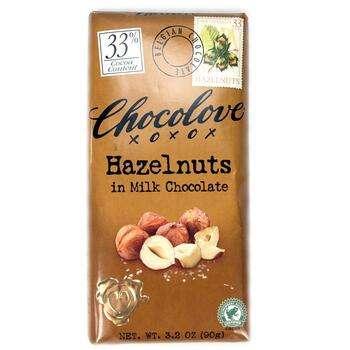 Купить Chocolove Hazelnuts in Milk Chocolate 90 g