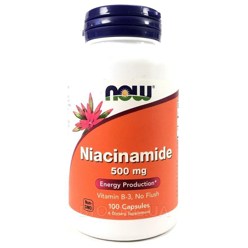 Ниацинамид витамин В3 500 мг 100 капсул фото товара