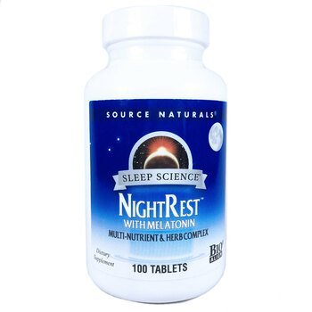 Купить NightRest With Melatonin 100 Tablets ( NightRest з мелатонином...
