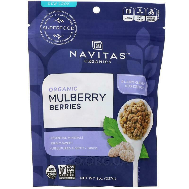 Navitas Naturals Organic Mulberry Berries Sun Dried White Mulb... фото товара