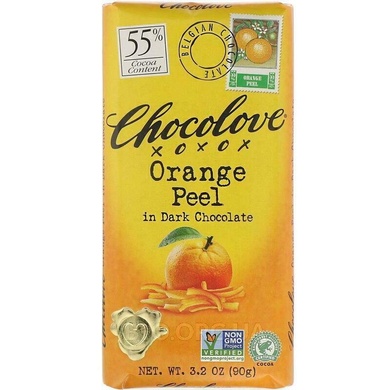 Чоколав черный шоколад с апельсиновой цедрой 90 г фото товара