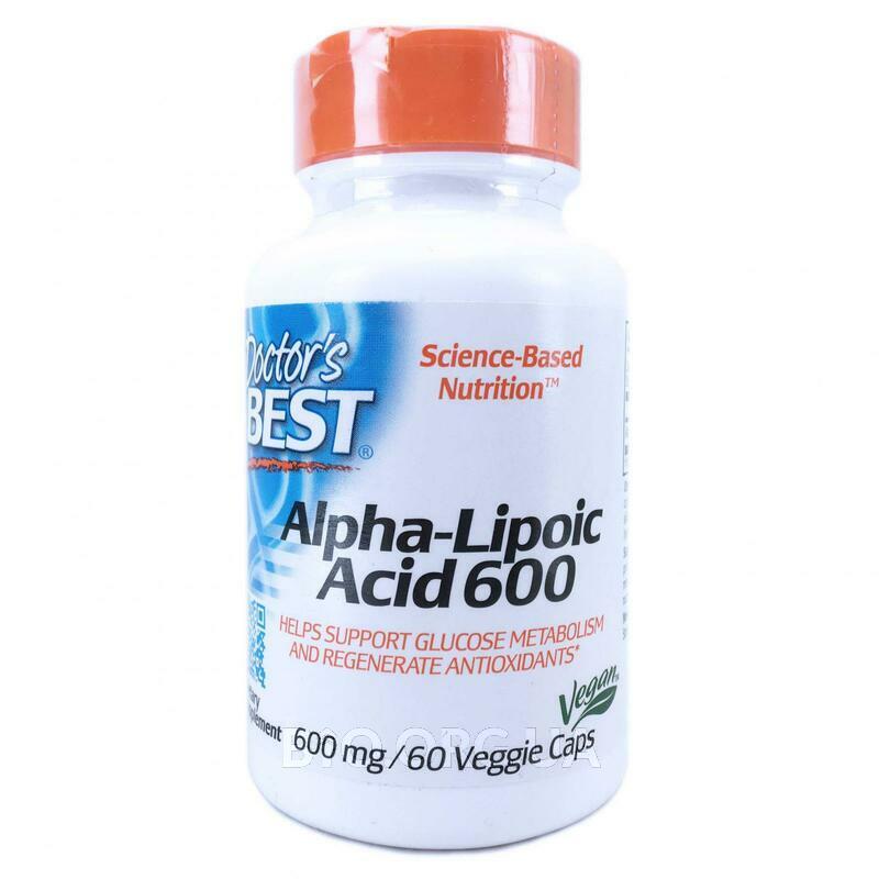 Альфа-Липоевая Кислота 600 мг 60 Вегетарианских Капсул фото товара