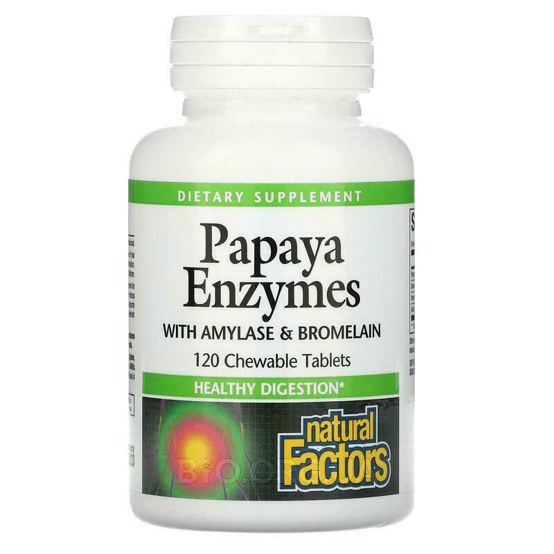 Chewable Papaya Enzymes 120 Tablets фото товара