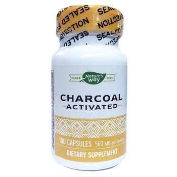 Купить Nature s Way Activated Charcoal 100 Capsules (Нейчерс Вей Акти...