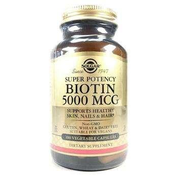 Купить Solgar Biotin 5000 mcg 100 Veggie Caps