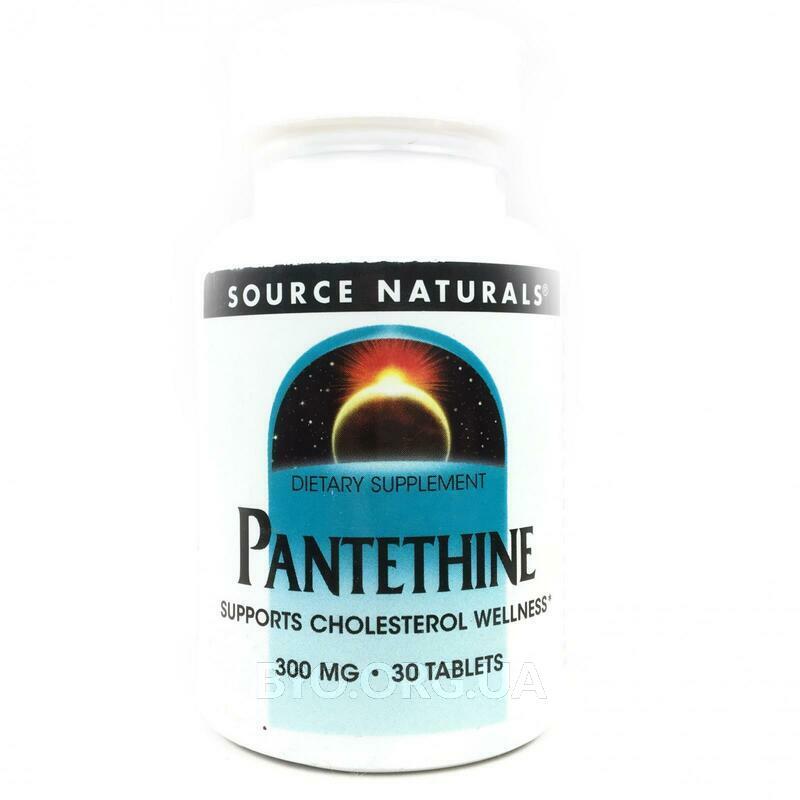 Пантетиновая кислота 300 мг 30 таблеток фото товара