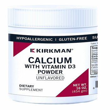 Купить Kirkman Calcium with Vitamin D-3 Powder 454 g