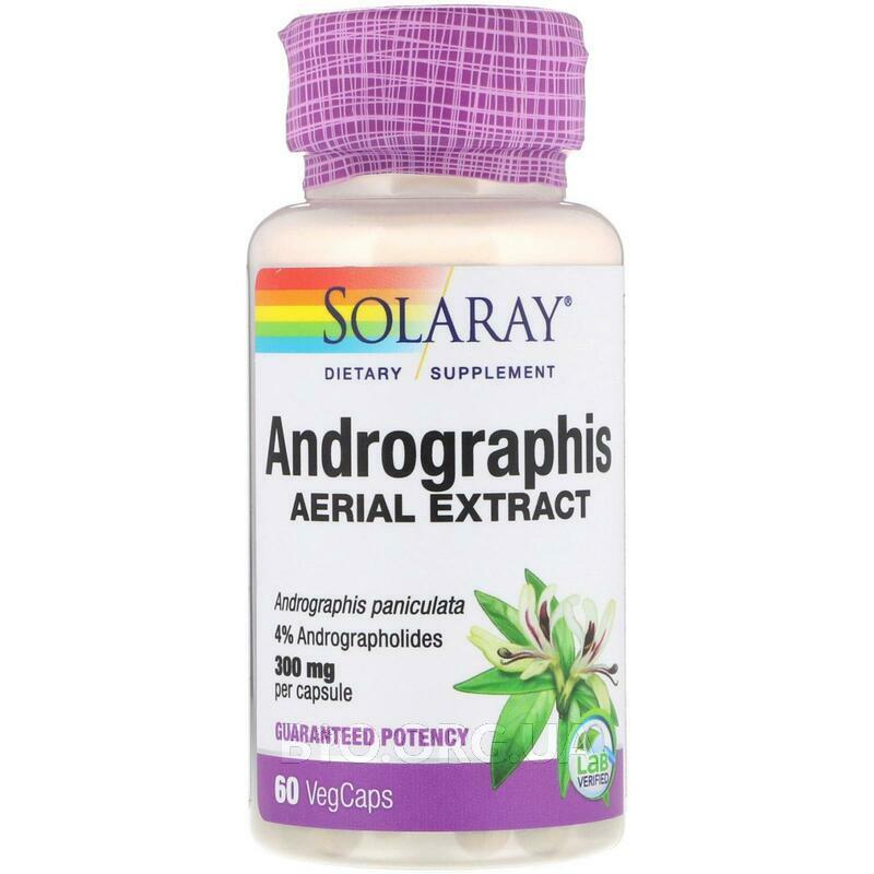 Andrographis Воздушный экстракт 300 мг 60 VegCaps фото товара