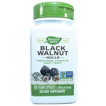 Купить Black Walnut Hulls 500 mg 100 Capsules (Шкаралупа Чорного воло...