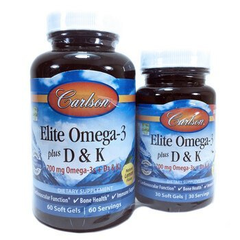 Купить Elite Omega-3 Plus D & K 60+30 Soft Gels