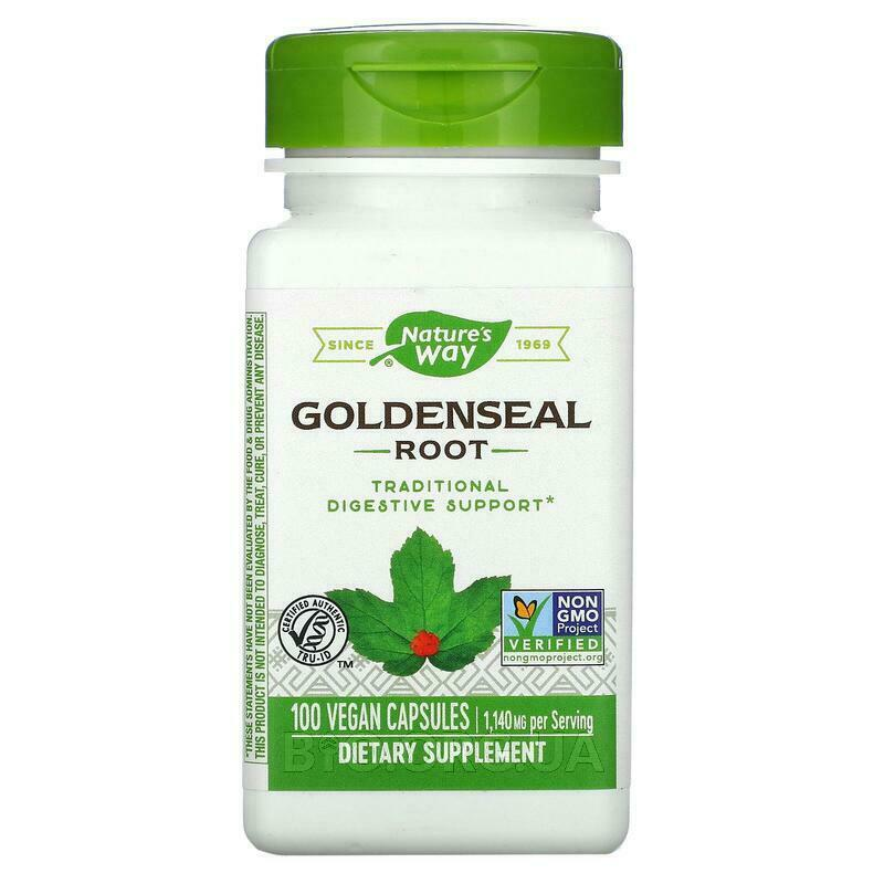 Nature's Way Goldenseal Root 570 mg 100 Capsules