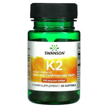 Купить Natural Vitamin K2 100 mcg 30 Softgels