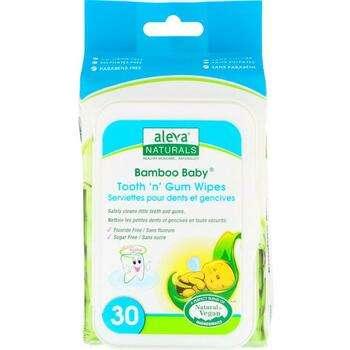Купить Bamboo Baby Tooth n Gum Wipes 30 Wipes 15 x 20 cm