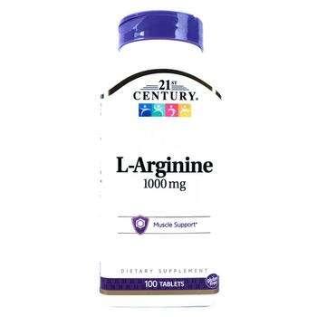 Купить L-Arginine 1000 mg 100 Tablets (21 століття L-Аргінін максимал...