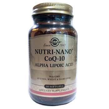Купить Solgar Nutri Nano CoQ 10 Alpha Lipoic Acid 60 Softgels