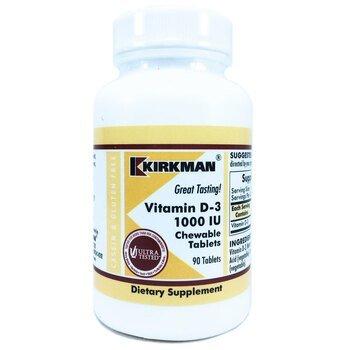 Купить Vitamin D-3 1000 IU 90 Chewable Tablets  ( Вітамін D-3 1000 IU...
