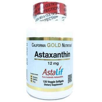 Купить Astaxanthin AstaLif 12 mg 120 Softgels ( Астаксантин 12 мг 120...