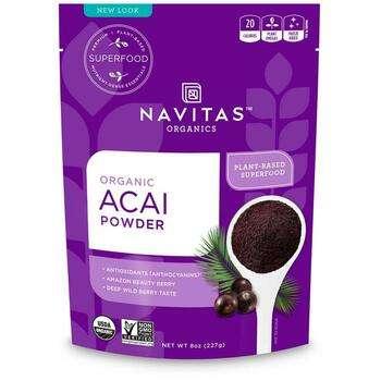Купить Organic Acai Powder 227 g (Навитас Органикс Органический порош...