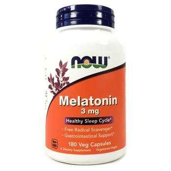 Купить Now Foods Melatonin 3 mg 180 Capsules