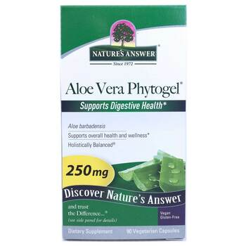 Купить Nature's Answer Aloe Vera Phytogel 250 mg 90 Vegetarian Capsules