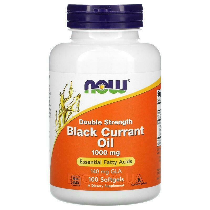 масло черной смородины Двойная сила 1000 мг 100 капсул фото товара