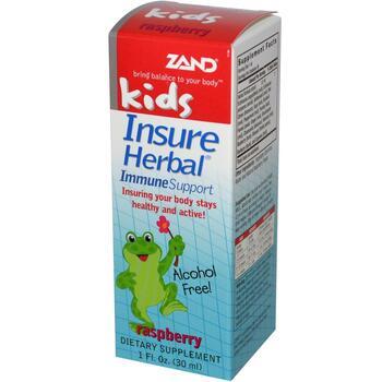Купить Zand Kids Insure Herbal Immune Support Raspberry 30 ml