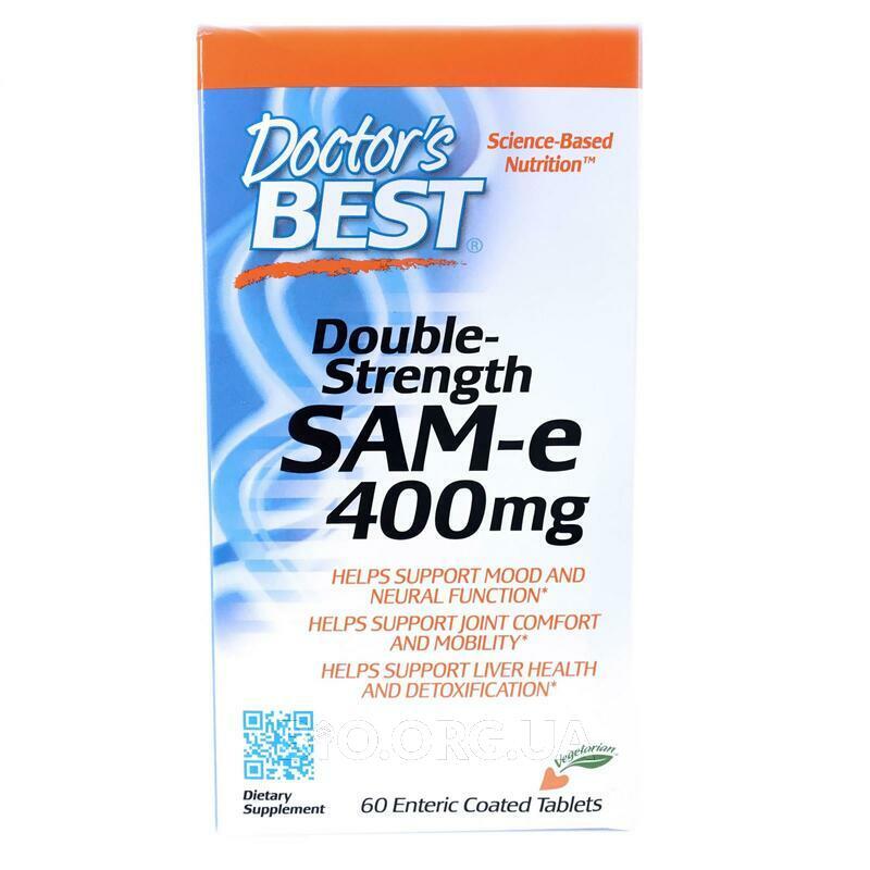 SAM-e двойная сила 400 мг 60 таблеток с энтеросолюбильной обол... фото товара