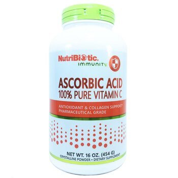 Купить NutriBiotic Ascorbic Acid 100% Pure Vitamin C 454 g