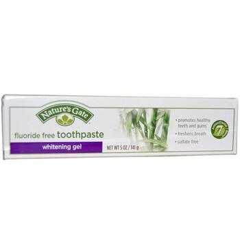 Купить Natures Gate Whitening Gel Toothpaste Fluoride Free 141 g (Від...