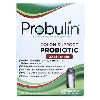 Купить Probulin Colon Support Probiotic 30 Capsules
