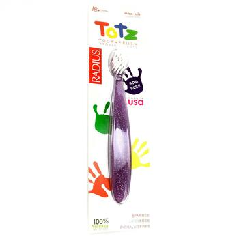 Купить Totz Toothbrush 18+ Months Extra Soft Purple Sparkle (Радіус З...