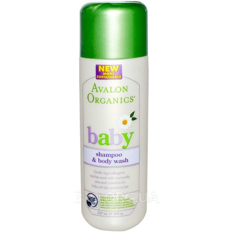 Авалон Органикс Детский шампунь для волос и тела 237 мл фото товара