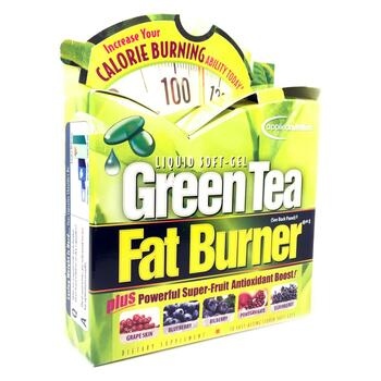 Купить Green Tea Fat Burner 30 Fast-Acting Liquid Soft-Gels (Апледнут...