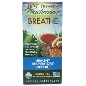 Купить Host Defense Breathe 60 Veggie Caps (Суміш грибів чаги рейши і...