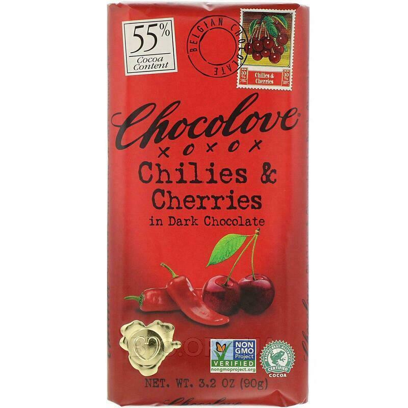 Черный шоколад с вишней 90 г фото товара