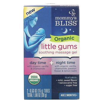 Купить Organic Little Gums Soothing Massage Gel Day/Night PackAge 2 M...