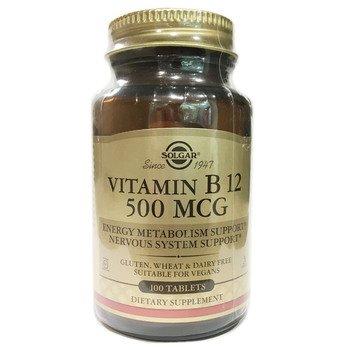 Купить Solgar Vitamin B12 500 mcg 100 Tablets