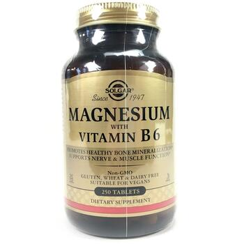 Купить Solgar Magnesium with Vitamin B6 250 Tablets