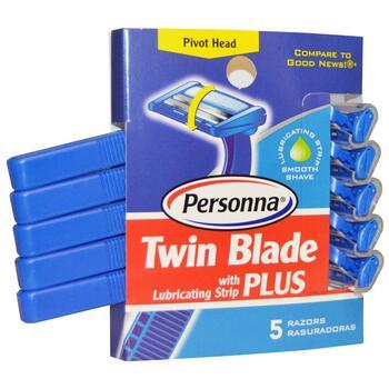 Купить Razor Blades Twin Blade Plus with Lubricating Strip 5 Razors (...
