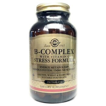 Купить B-Complex with Vitamin C Stress Formula 250 Tablets ( B-компле...