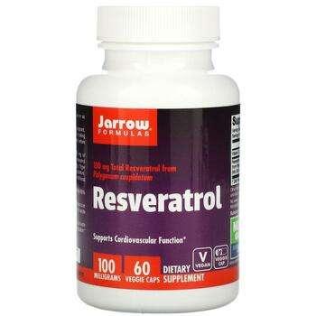 Купить Jarrow Formulas Resveratrol 100 mg 60 Veggie Caps