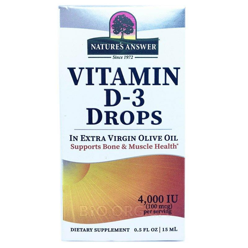 Витамин D3 4000 МЕ в каплях 15 мл фото товара