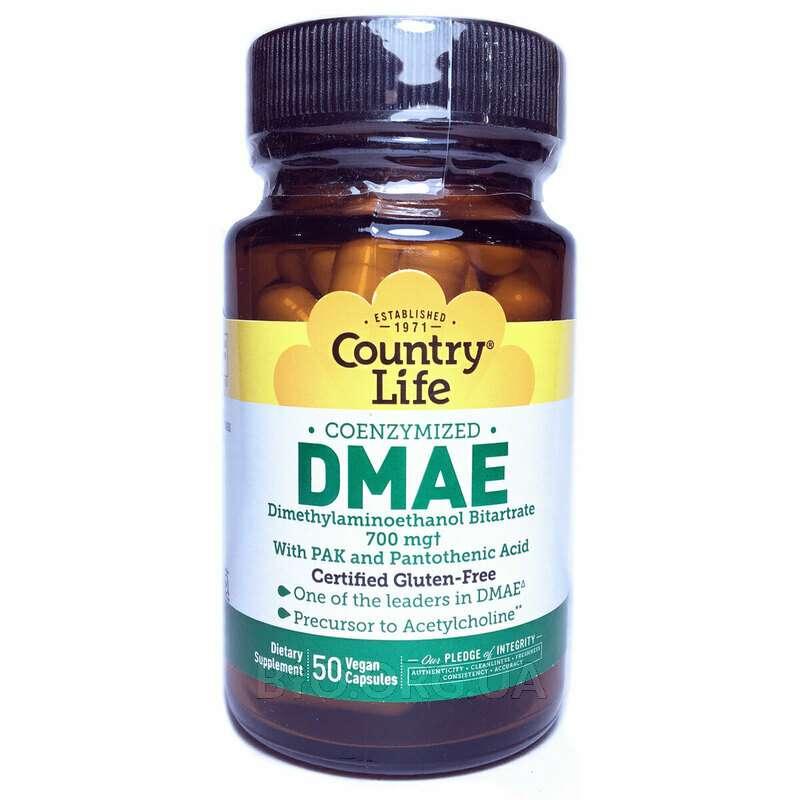 Gluten Free DMAE Coenzymized 350 mg 50 Veggie Caps фото товара