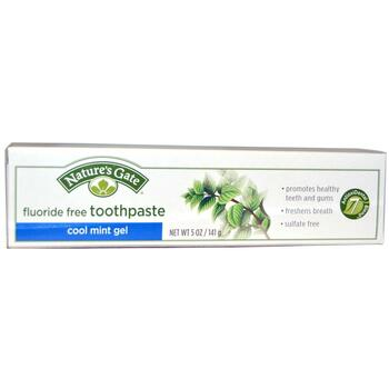 Купить Natures Gate Cool Mint Gel Toothpaste Fluoride Free 141 g (Зуб...