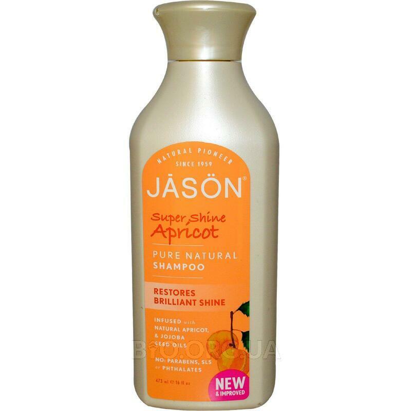 Джейсон натуральный Шампунь супер блеск Абрикос 473 мл фото товара