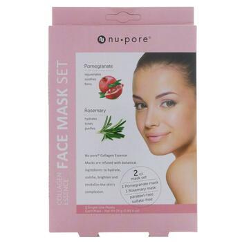 Купить Nu-Pore Collagen Essence Face Mask Set Pomegranate & Rosemary ...